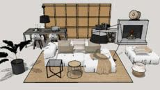 3d Warehouse, Living Room Sets, Architecture, Table, Furniture, Decoration, Home Decor, Arquitetura, Decor
