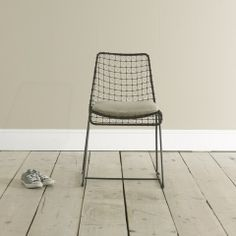 Hand welded Geronimo Gunmetal kitchen chair