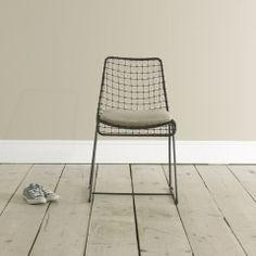 Hand welded Geronimo Gunmetal kitchen chair
