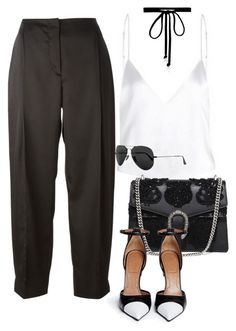"""""""Untitled #2467"""" by camila-echi ❤ liked on Polyvore featuring Cédric Charlier, Joomi Lim, Gucci, Givenchy and Ray-Ban"""