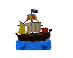 Porte manteau Pirate avec 2 patères : Chambre d'enfant, de bébé par l-eveil-du-bois