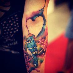 #bluejay #tattoo #love #watercolor #tattoo #like #heart
