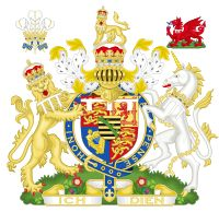 Coat of arms for George V of the UK (as Prince of Wales)
