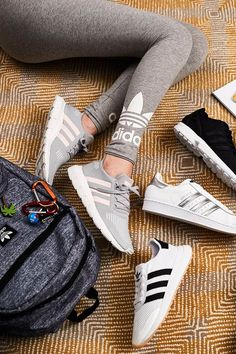 Step into the school year in a fresh pair of adidas Superstar, Flashback or Swift Run sneakers. Dope Outfits, Fashion Outfits, Outdoor Activities For Adults, Black Jeans Outfit, Converse Style, Athleisure Outfits, Sock Shoes, Fitness Fashion, Me Too Shoes