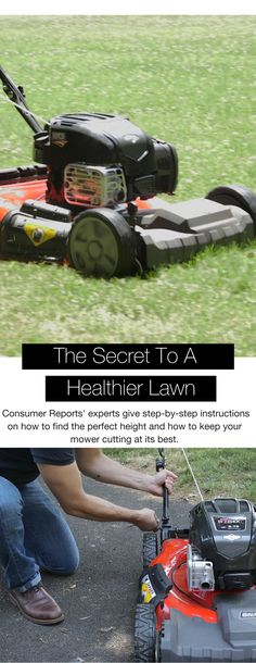 The key to a healthier lawn and a better-performing mower starts beneath a mower's deck. Consumer Reports' experts give step-by-step instructions on how to find the perfect height and how to keep your mower cutting at its best.