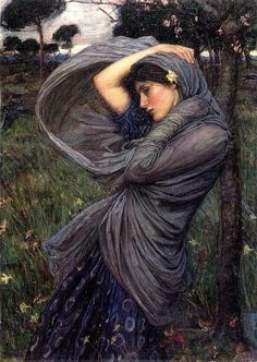 Boreas, Oil On Canvas by John William Waterhouse (1849-1917, Italy)