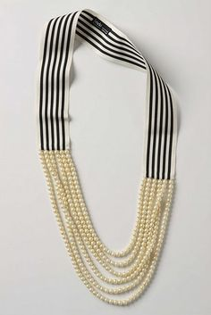 love the rock & roll stripes and the vintage style pearls (Anthropologie necklace)