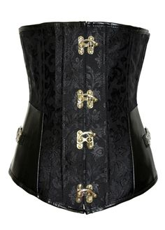 0e7a43d4be Joker Studded and Buckle Embellishmtent Black Polyester Bustier  17.95  Waist Cincher Corset