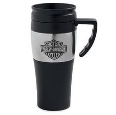 Harley Davidson Stainless Steel Travel Mug With Handle