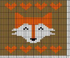 Fox Tea Towel Knitting Pattern