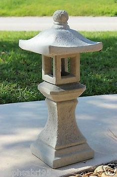 There is a variety of elements used throughout a Japanese garden, but the three most important and basic ones that you will find in every garden design are: Japanese Garden Lanterns, Japanese Stone Lanterns, Japanese Garden Design, Japanese Gardens, Concrete Statues, Stone Statues, Concrete Garden, Cement Art, Cement Crafts