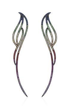 AS29's multicolor sapphire earrings. [Courtesy Photo]