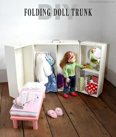A folding doll trunk for all the doll lovers who need a place to store their doll and all her things.  Today, as part of the Handbuilt Holiday series with Ana White, we are bringing you free plans for this folding doll trunk: We are in Week 5 of this 12 week series and it... Read more