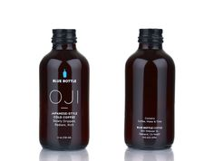 Oji is a Japanese-style cold brewed coffee that drips for up to 18 hours before being served. Dense, flavorful, and strong, this package reflects the refinement of the process and the intensity of the drink.