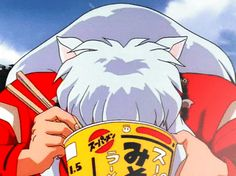 InuYasha. He sure does love his ramen!!