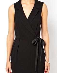 Image 3 ofASOS Tux Dress With Grosgrain Tie