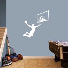 Sweetums Basketball Slam Dunk Set Wall Decal Medium