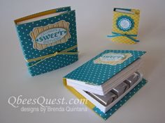 QbeesQuest offers card-making ideas, paper crafting tips and tutorials. Brenda Quintana Independent Stampin' Up! Candy Crafts, 3d Paper Crafts, Paper Gifts, Stampin Up, Hershey Nugget, Craft Show Ideas, Craft Box, Card Tutorials, Little Gifts