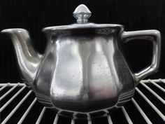 Little Silver Teapot with Fitted Lid  Glazed by ChicAvantGarde, $12.00