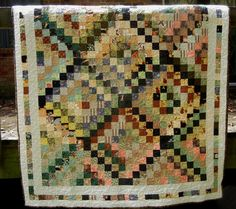 Scrappy Trips Around the World Quilt Handmade by TheSandlapperShop