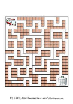 어린이 미로찾기프린트-구급차를 도와주세요 child maze game:: Maze Worksheet, Worksheets, Educational Games For Kids, Math, Children, Infant Activities, Labyrinths, Educational Games For Children, Young Children