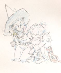 Ursula and Akko, by 生活習慣病 (@gomi_dame332)