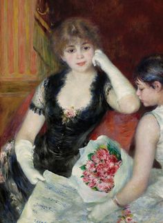 'At the Concert' by Pierre-Auguste Renoir (French 1841-1919)                                                                                                                                                      Mais