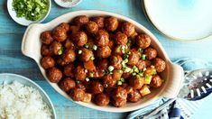Recipe of the Day: Pineapple BBQ Meatballs Save the recipe 👍 Fried Chicken Recipes, Spicy Recipes, Copycat Recipes, Slow Cooker Recipes, Easy Recipes, Barbecue Meatball Recipes, Lasagna With Ricotta, Spinach Pasta Bake, Creamy Chicken Enchiladas