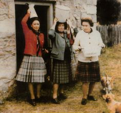 Princess Margaret, Queen Elizabeth the Queen Mother, Queen Elizabeth II in Scotland