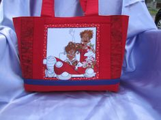 Fast Ladies Red and Purple Tote by KanNDesignsForYou on Etsy, $35.00