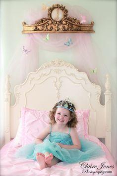 My daughter Sophia Belle on her princess bed. :)