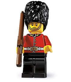 "Royal Guard -- ""Sorry, sir! I'm not allowed to speak!"" 