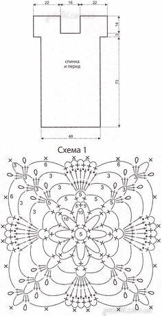 Lace vestido de motivos. Descrição do esquema de tricô, padrão