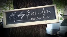 One of the vintage window chalkboard signs we did.