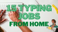 Typing Jobs From Home - Online Income Work-at-Home-Jobs Typing Jobs From Home, Learn To Type, Legit Online Jobs, Typing Skills, Online Income, Home Jobs, Design Tutorials, How To Make Money, Learning