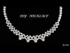 Easy pattern for pearl necklace. Diy elegant beaded necklace - YouTube