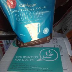 Got my #socialnature @cup4cup gluten free flour! I'm still low carb but this would be nice to try for Og! #trynatural #freebies #freesamples