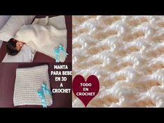 CROCHET GANCHILLO 😍 WOW QUE TERNURA 😍 parte #1 - YouTube Punch Art, Crochet Baby, Baby Gifts, Make It Yourself, Quilts, Youtube, Blanket, Frame, Google Search
