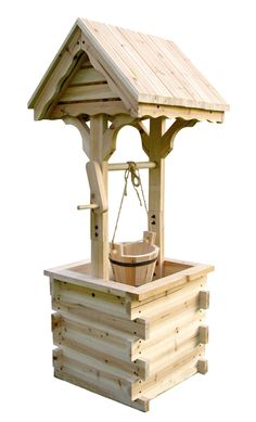 Shine Company Decorative Wishing Well, Natural For the young at heart, the wishing well has always had an enchanted place in our imagination. Diy Garden Projects, Easy Diy Projects, Wood Projects, Woodworking Projects, Wishing Well Plans, Carpenter Bee Trap, Tyres Recycle, Recycled Tires, Outdoor Furniture Plans