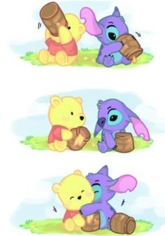 Stich and Pooh Bear