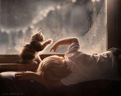 20 fotografias para provar que todas as crianças precisam de um gato | Tá Bonito