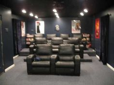 Turn the basement into a home theater room!!