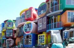 Japanese apartments in Tokyo designed by Arakawa and Gin. I LOVE these! I think they are so creative!