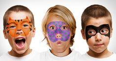 Face Paint & Stencils Set. Per Carnevale potete disegnare delle simpatiche maschere per i vostri bambini grazie al Face Paint & Stencils Set. Via minordetails.typepad.com