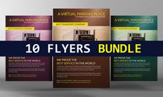 10 Business Corporate Flyers Bundle by Business Templates on @creativemarket