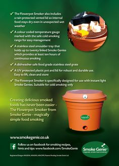 The complete Flowerpot Smoker Kit for simple and easy cold smoking of salmon, bacon, cheese and many more delectable dishes.