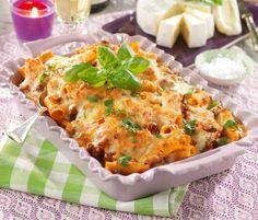 Pasta- och köttfärsgratäng Lasagna, Quiche, Broccoli, Mashed Potatoes, Macaroni And Cheese, Spaghetti, Food And Drink, Pasta, Meat