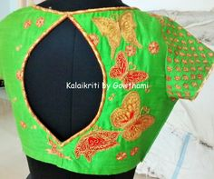 """we are on stop for beautiful and most stylish blouses to get - Kalaikirit by Gowthami-- """"Art lives in every form of creation"""" ! code:BL002 For orders and enquires please inbox us or call on +91 9849399003 or mail us to kalaikriti@gmail.com."""