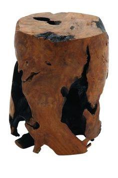 Teak Wood Stool by UMA Enterprises Inc. on @HauteLook