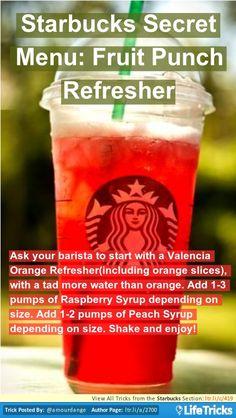 Starbucks - Starbucks Secret Menu: Fruit Punch Refresher